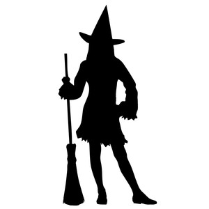 standing witch silhouette