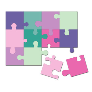 easy cut activity puzzle 4.5 in. x 6 in.