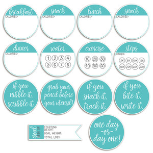 diet planner stickers