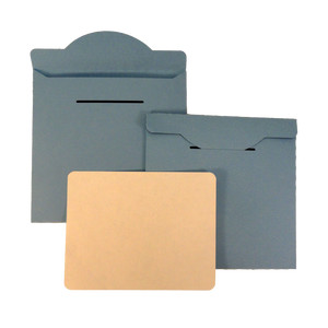 disc cd envelope flap latch with label