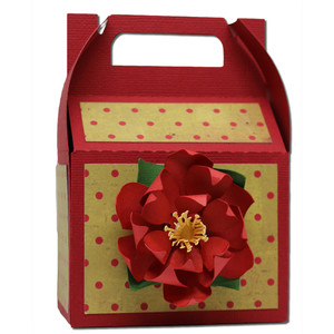 poinsettia gable box