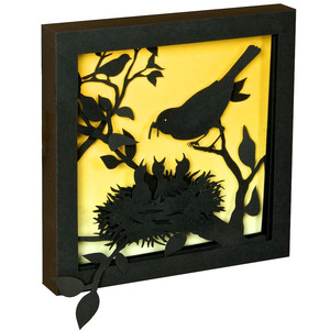 springtime robin shadow box