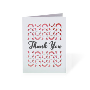 'thank you' fold and tuck card