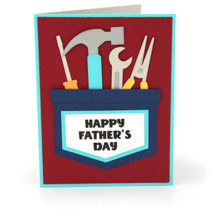 a2 card father's day tool pocket