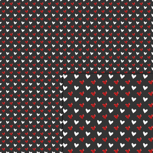 glitter mini hearts pattern