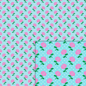 roses pink flowers pattern