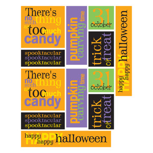 halloween word stickers
