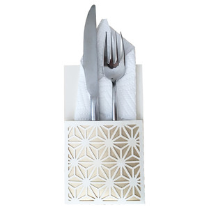 star lattice flatware holder