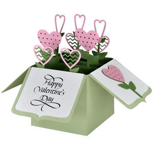 heart garden card in a box