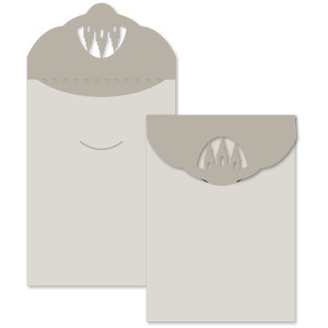 temple salt lake cut out flap envelope