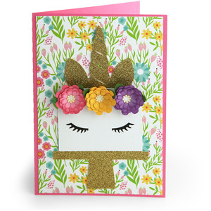 5x7 unicorn card