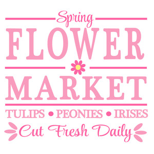 spring flower market sign