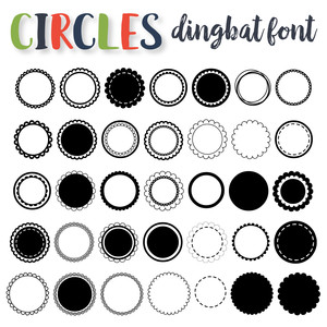 circles dingbat
