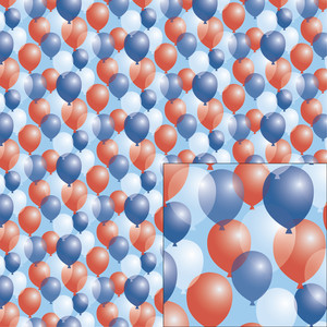 red, white, and blue balloon pattern