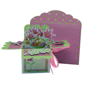 lots of flowers in a card in a box