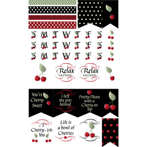 cherry sweet planner stickers
