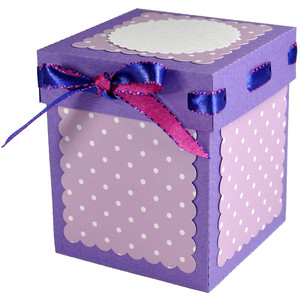 tall ribbon gift box