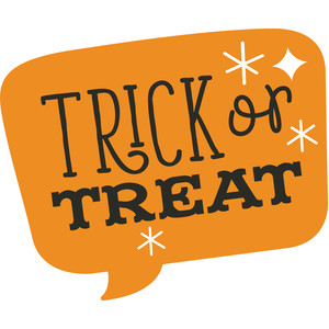trick or treat speech bubble