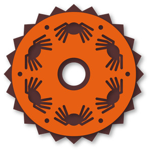 halloween coaster disc spiders