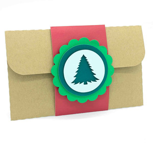 christmas tree scallop card
