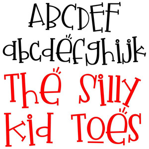 pn the silly kid toes