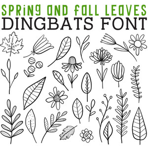 cg spring and fall leaves dingbats