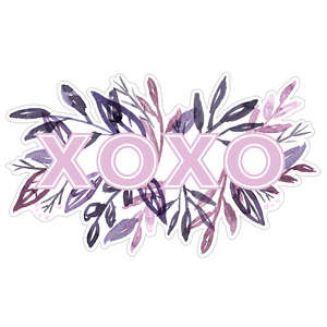 xoxo watercolor