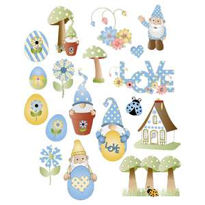 easter gnomes planner stickers