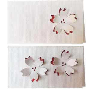 cherry blossom 3d place card