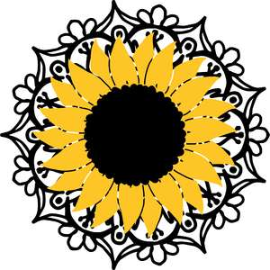 sunflower and mandala