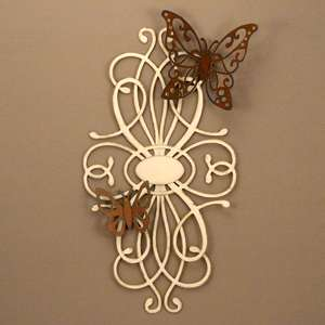 flourish arabesque with butterflies pair