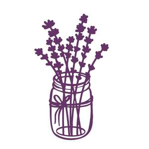 lavender in a jar