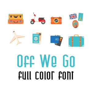DB off we go full color font
