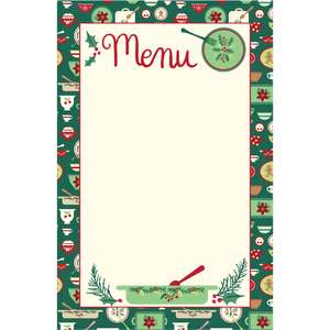 holiday cookbook menu page