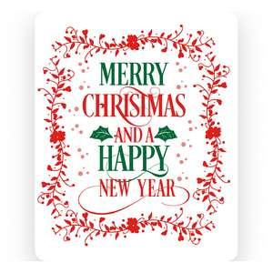 merry christmas and a happy new year print n cut card