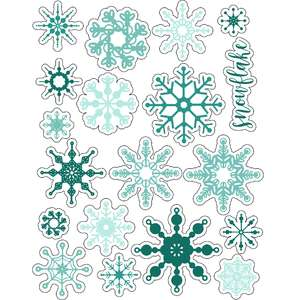 ml snowflakes fun stickers