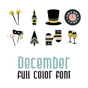 december full color font