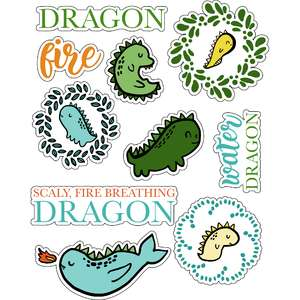ml small dragon stickers