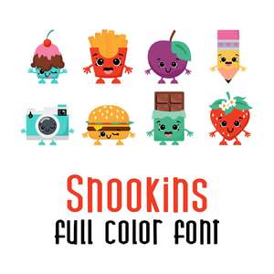 snookins full color font