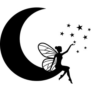 fairy on the moon
