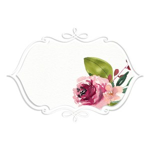 fancy floral watercolor tag