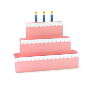 tiered cake box card