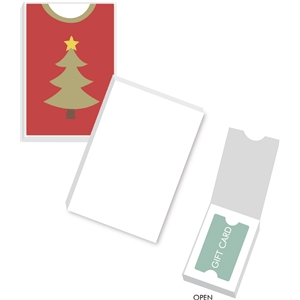christmas tree sweater gift card box