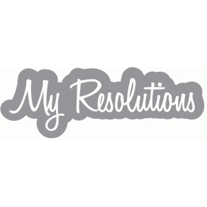 my resolutions word bubble