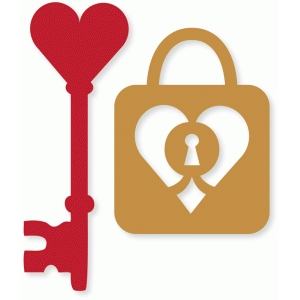 heart key & lock