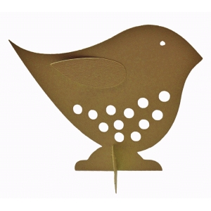 folkart dotted bird with stand