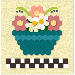 flower basket quilt block