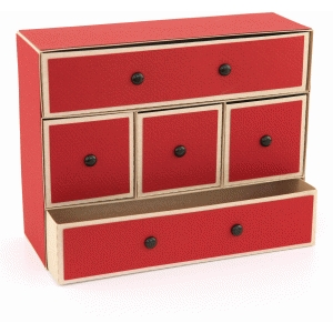 3d lori whitlock 5 drawer organizer box