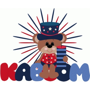 kaboom bear 4th of july