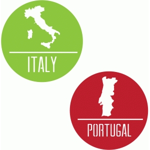 italy/portugal badges